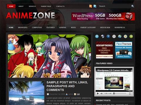animezone wp template