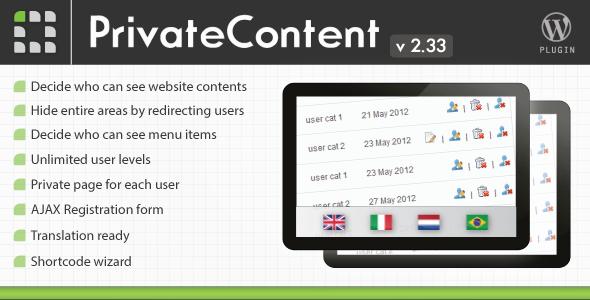 Buy PrivateContent - Multilevel Content Plugin