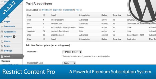 Buy Restrict Content Pro