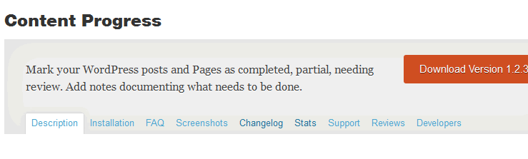 Content Progress Plugin for WordPress