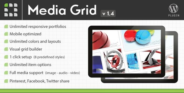 Download Media Grid Portfolio plugin for WordPress