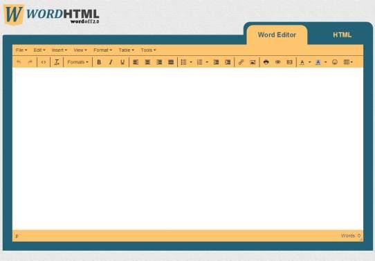 wordhtml website screenshot
